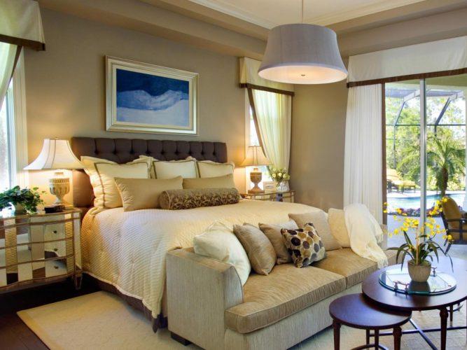 bedroom color ideas dark brown furniture